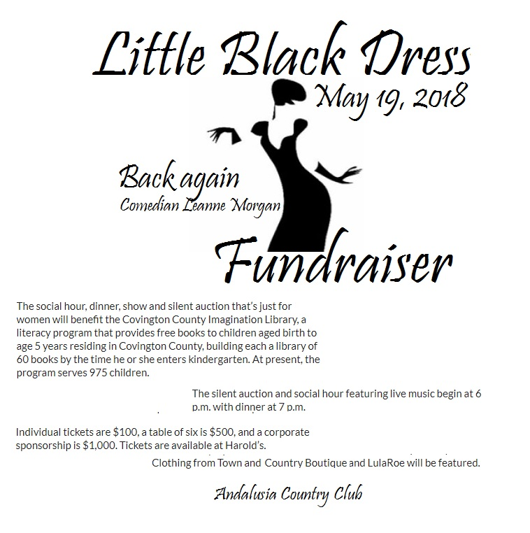 Little Black Dress Fundraiser With Leanne Morgan Covington County Al